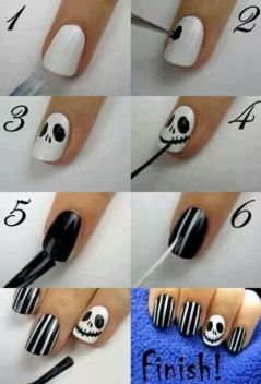 halloween easy nail tutorial