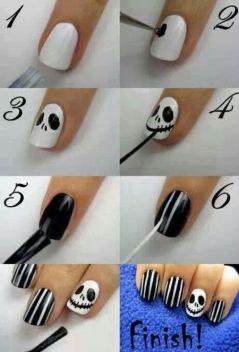halloween easy nail tutorial