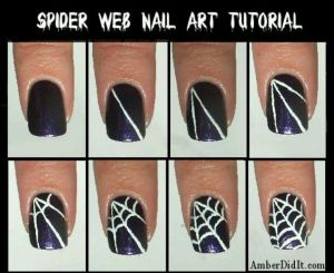 halloween nails easy