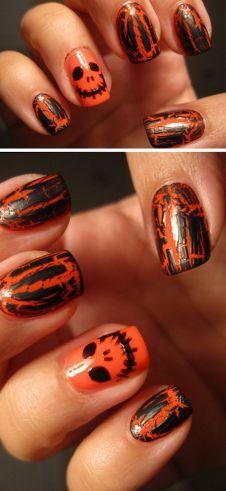halloween nails tutorial
